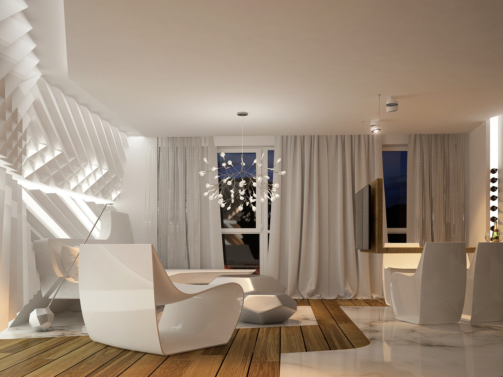 Creative Apartment Designs Ideas With Cute and Sweet Decor - RooHome