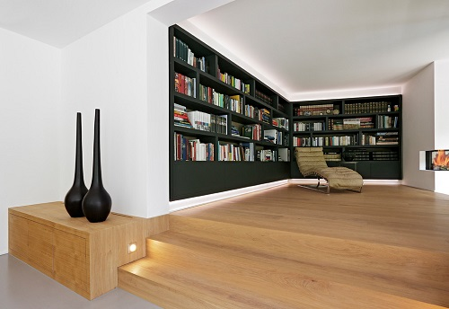 Interior bookshelf design
