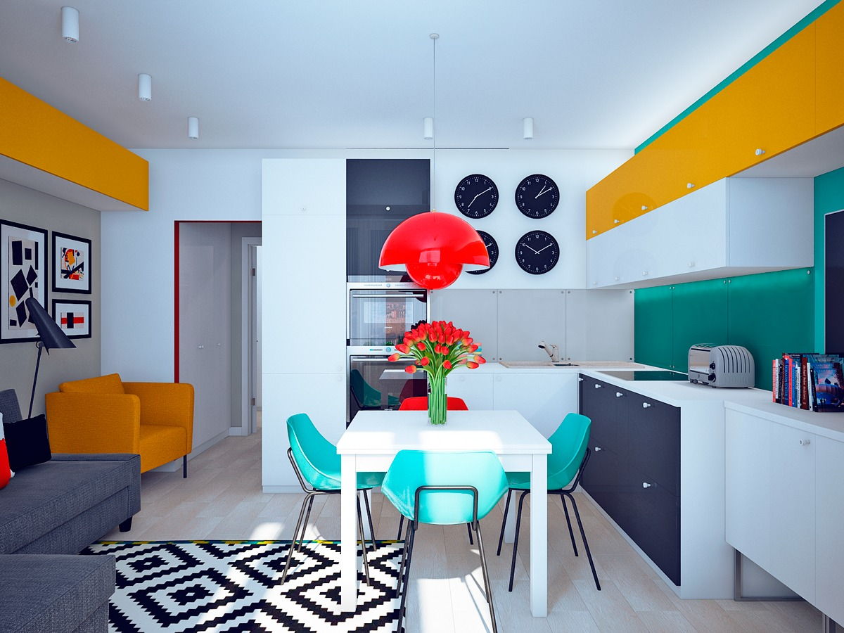 Pop art style for living room design