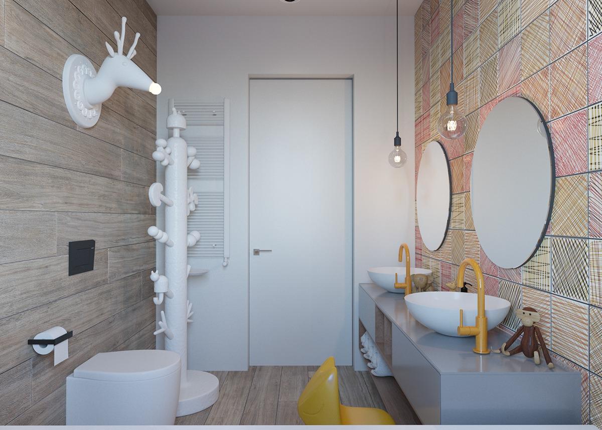 Cute kids bathroom design ideas