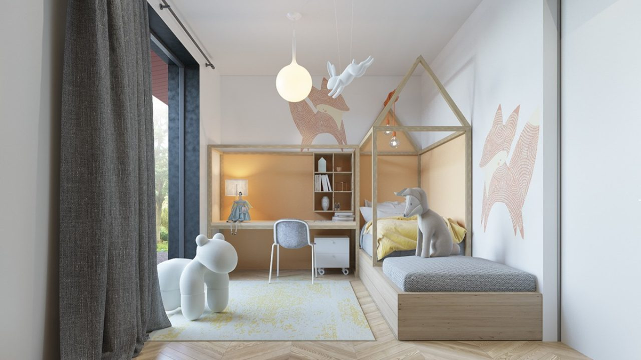 An Awesome Kids Bedroom Ideas With Pastel Color - RooHome