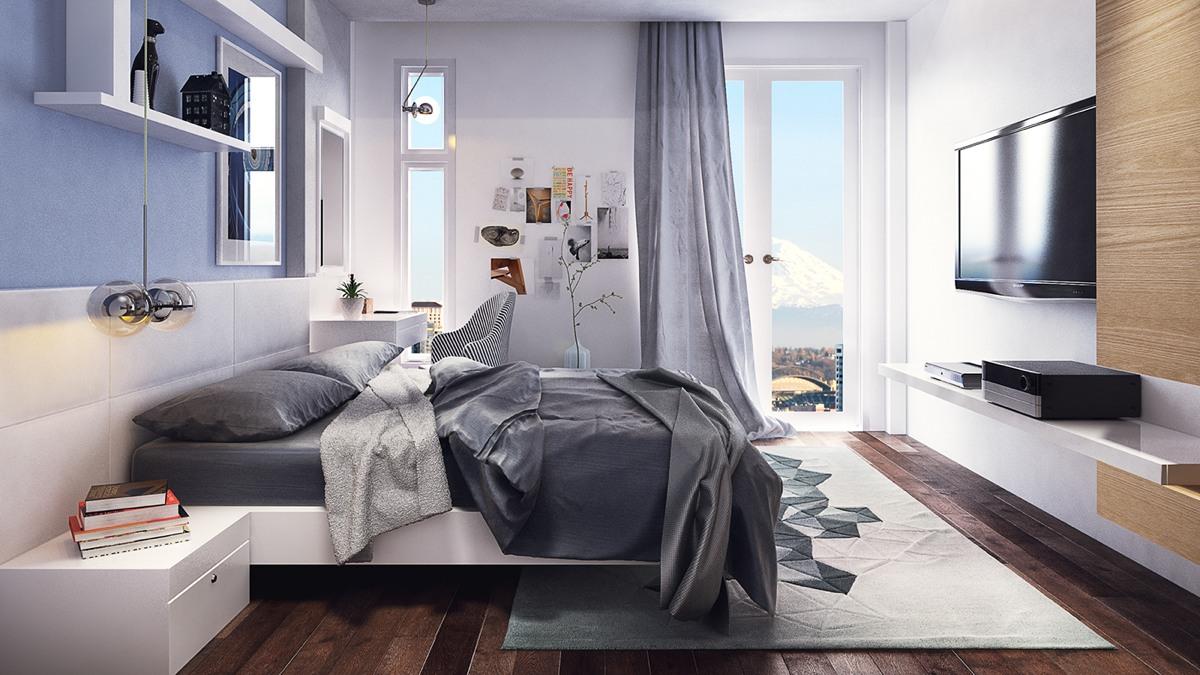 Creative teenage bedroom