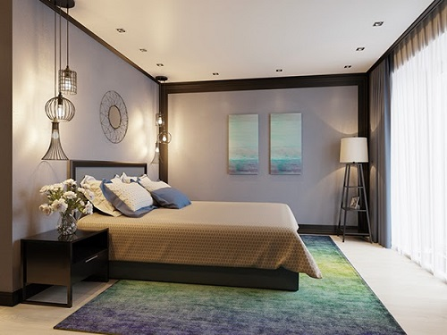 Luxurious concept for a modest bedroom