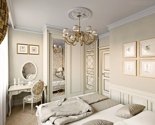 Luxurious concept for an ordinary bedroom