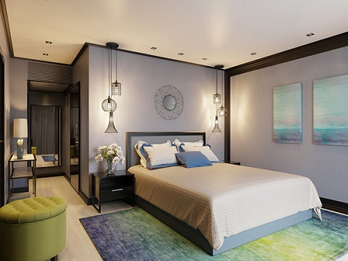 Luxurious concept for bedroom