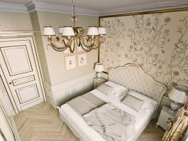 Luxurious concept with classic interior and smart furniture
