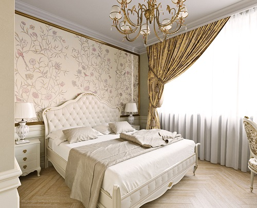 Luxurious concept with shade of classic interior