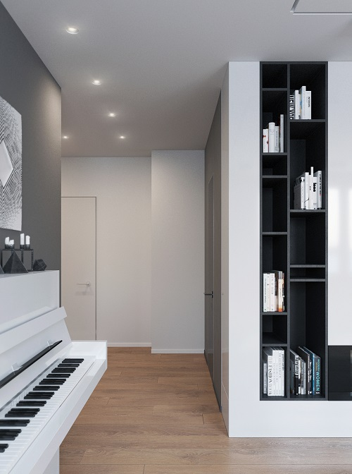Minimalist idea combines smart interior