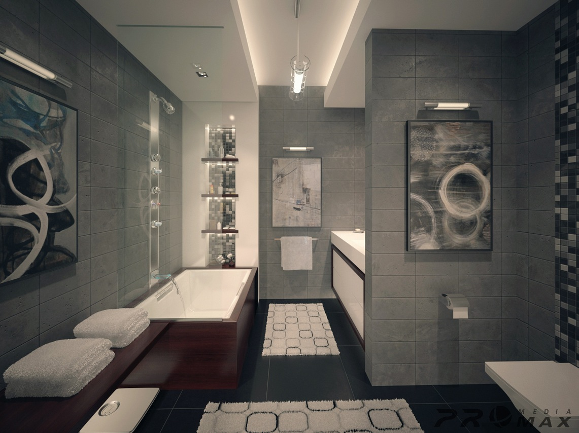 Modern and luxury bathroom design