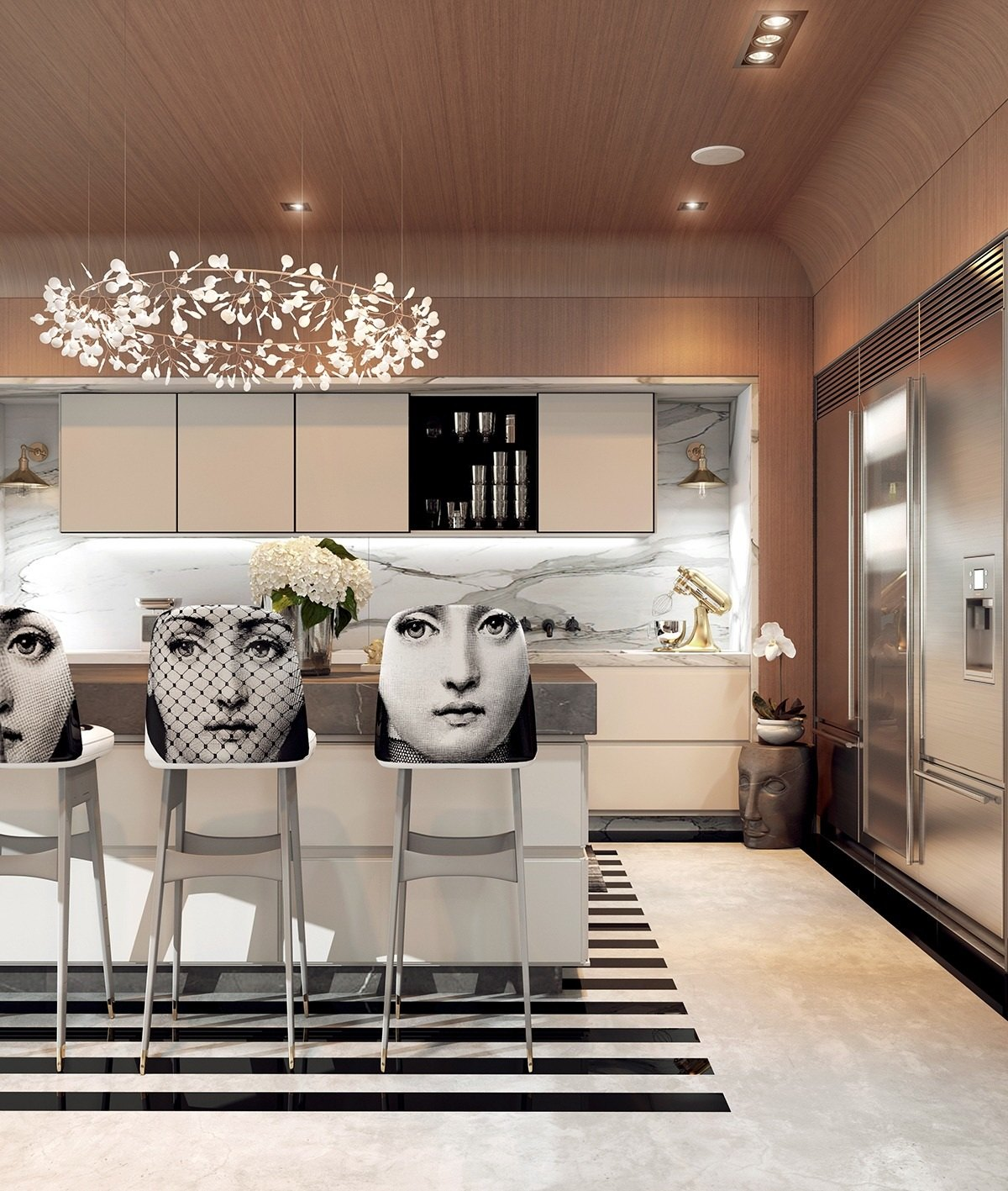 Modern Apartment Designs Ideas With Beautiful Artistic Decor - RooHome