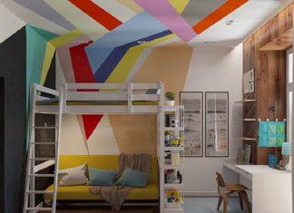 Modern design of bunk bed for kids