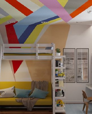 Modern design of bunk bed for kids
