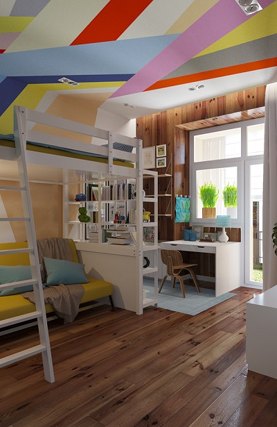 Modern design of bunk bed