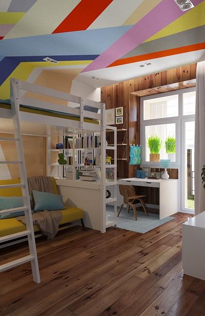 Modern design of bunk bed