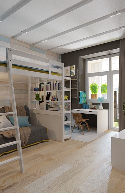 Modern design of bunk bed very cool