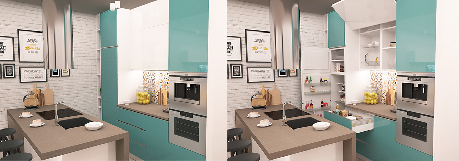 Modern interior for kitchen