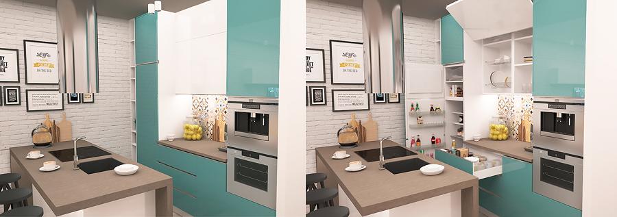 Modern interior for kitchen