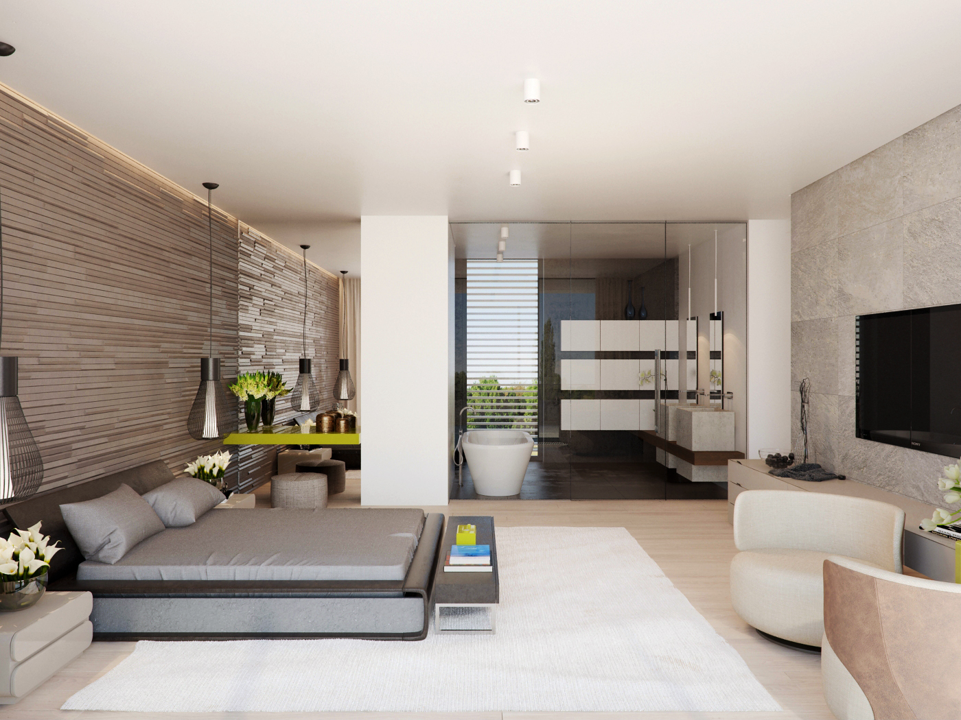 Modern House Interior Design Ideas With Elegant Indoor Swimming Pool ...
