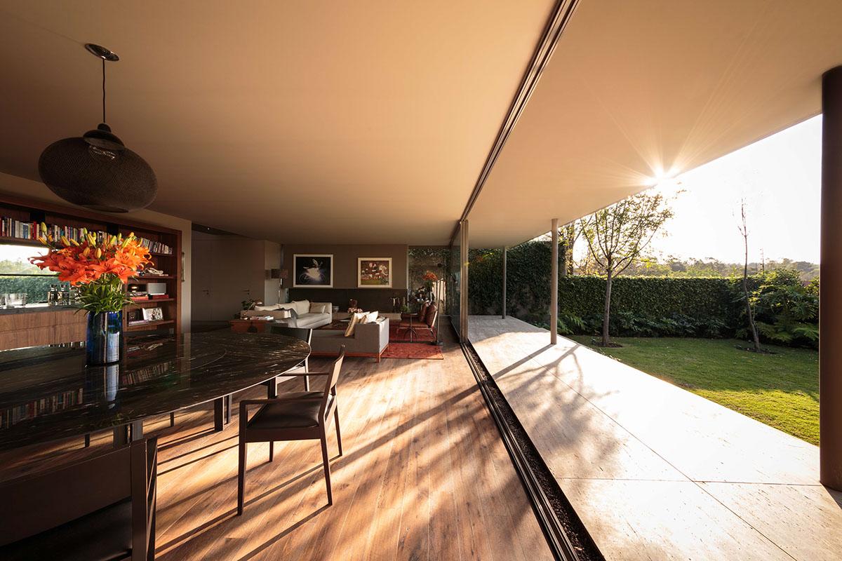 Modern indoor outdoor living room designs ideas