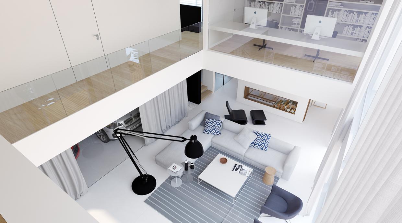 Black and white interior concept