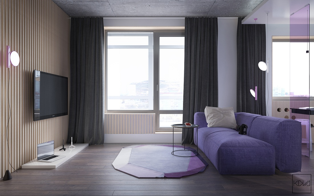 Purple Apartment Designs Ideas