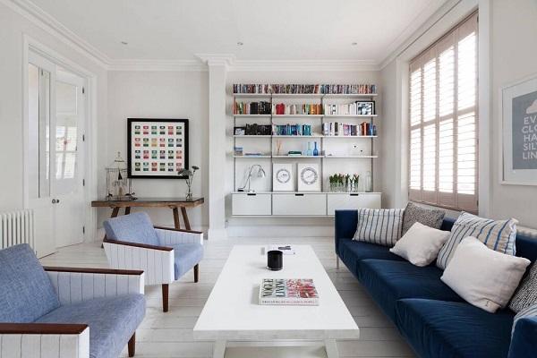 scandinavian design for living room area