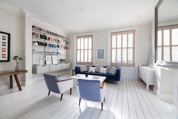Scandinavian design with vintage furniture