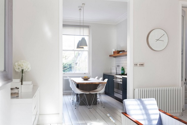 Scandinavian design with white accent