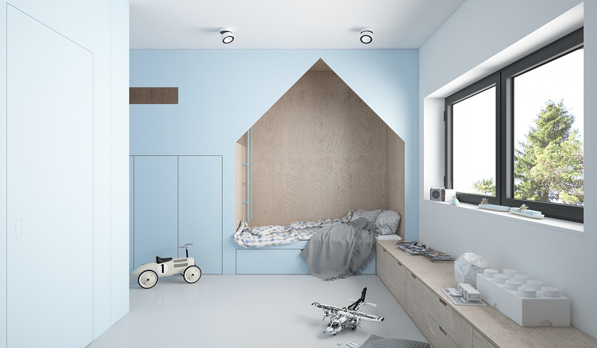Scandinavian kids bedroom design