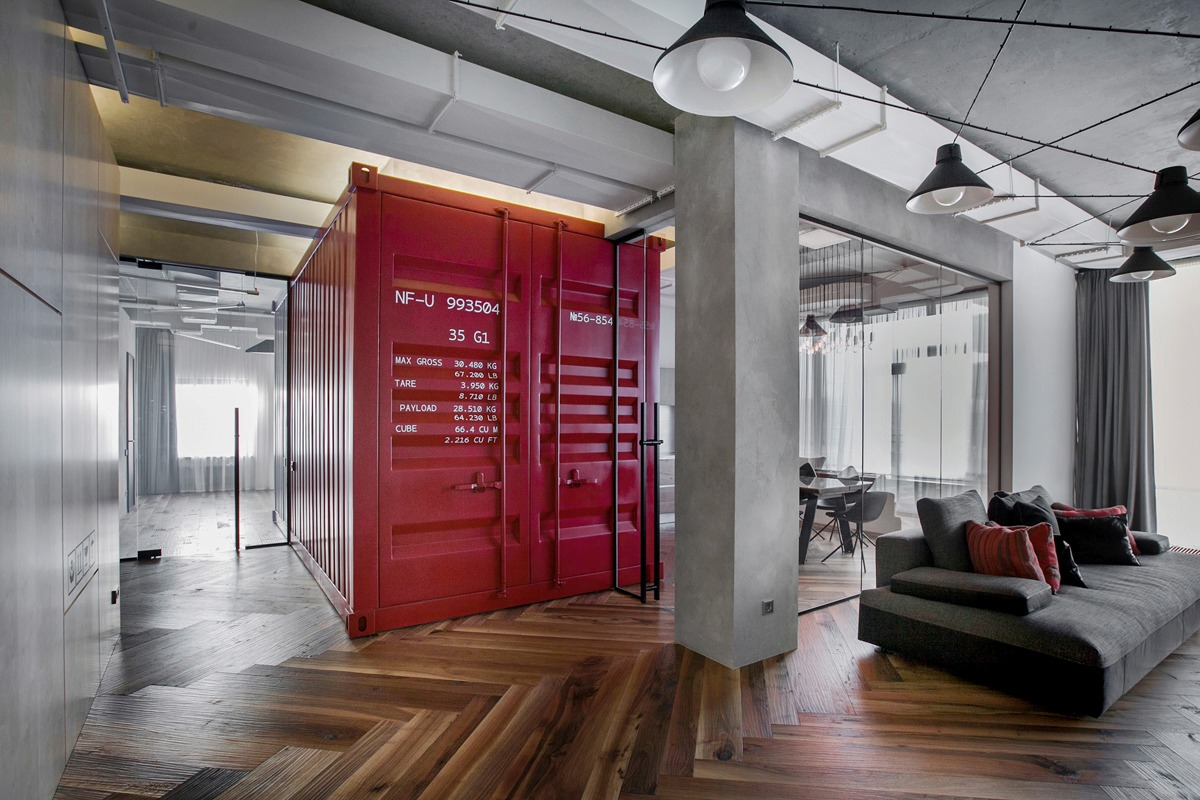 Small Studio Apartment Design With Industrial Style And