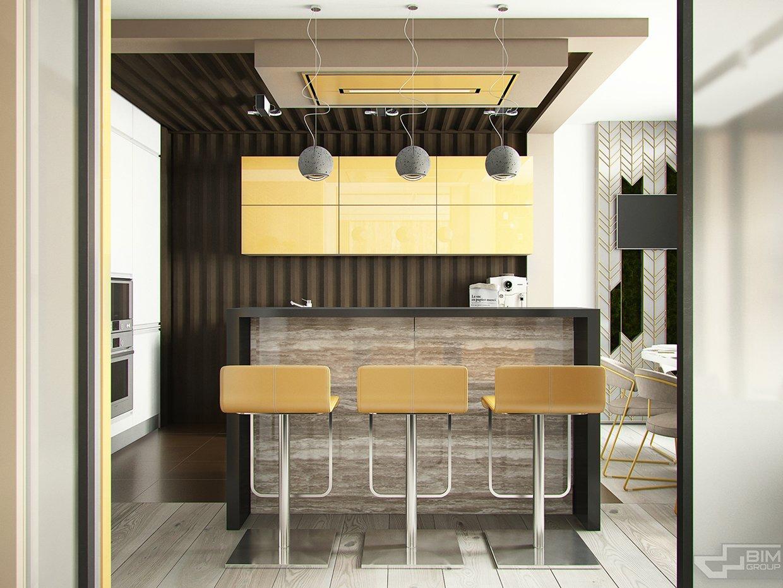 Simple kitchen bar design