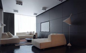 Dark living room theme
