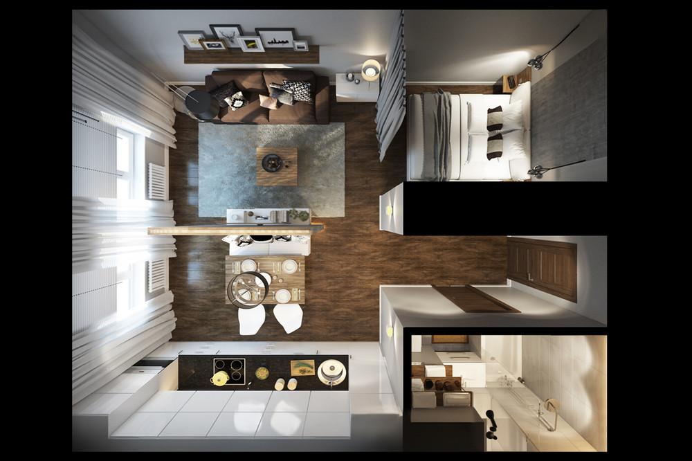 Studio apartment plan