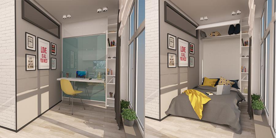 Smart interior for bedroom