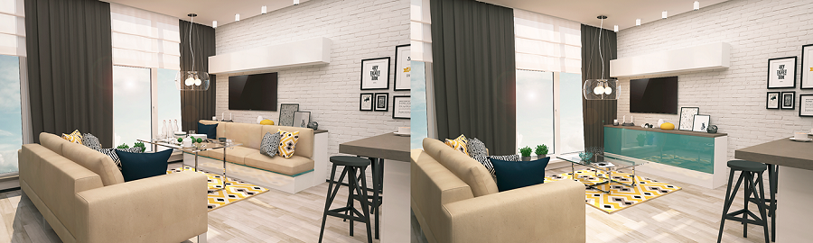 Smart interior for living room