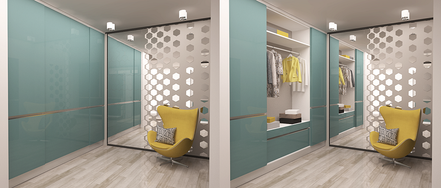 Smart interior for wardrobe