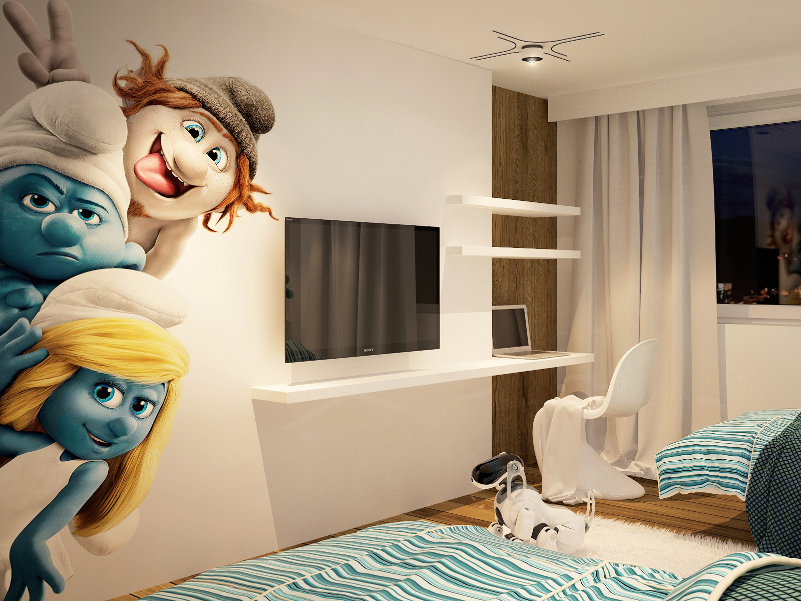 Smurf wall decor