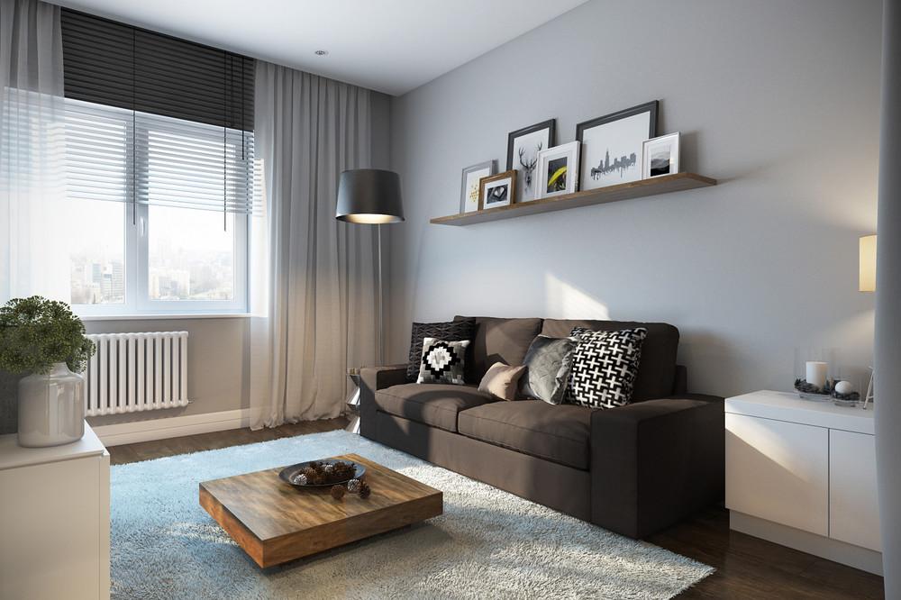 Minimalist and modern living room design
