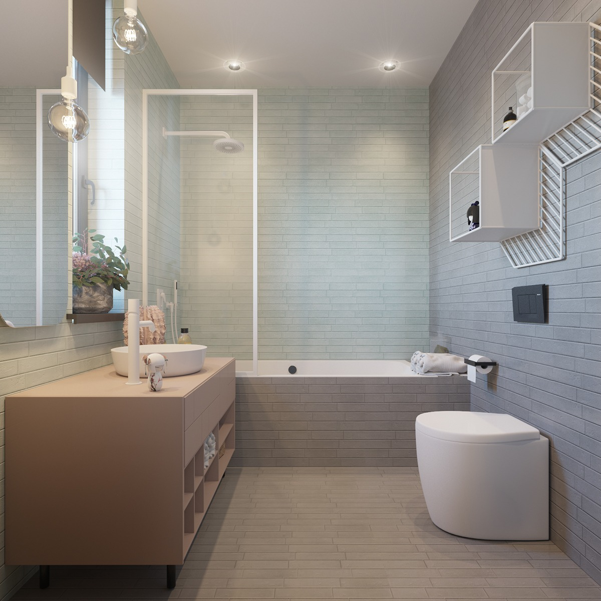 Nursery bathroom design