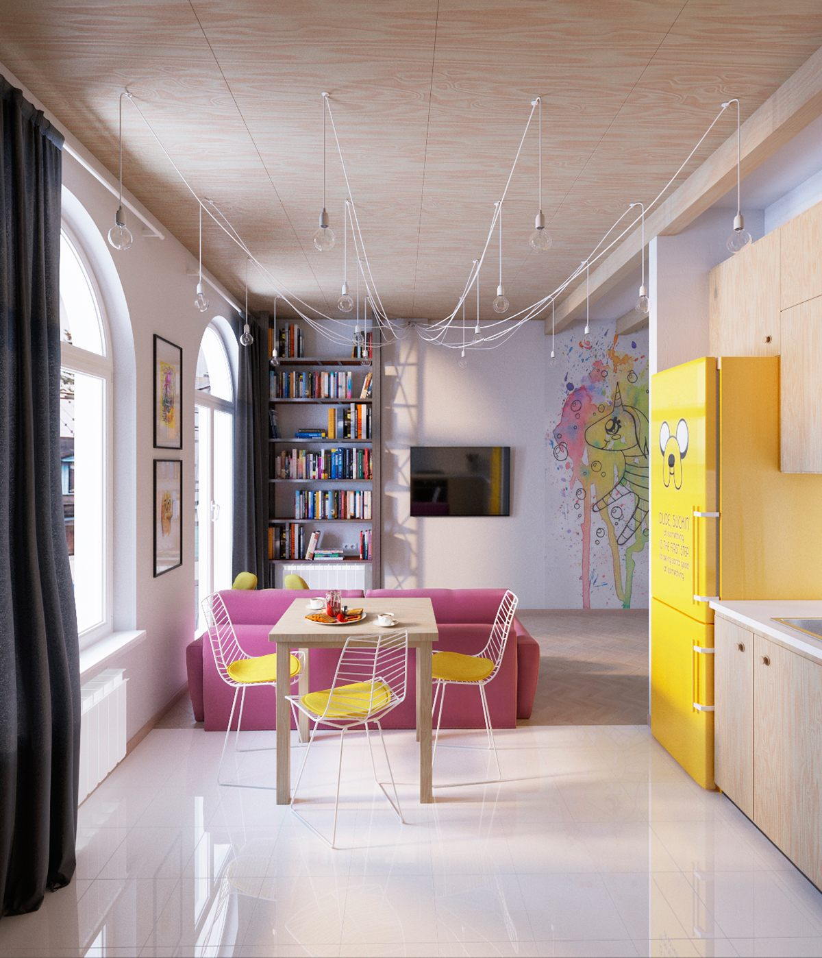 Colorful interior designs styles