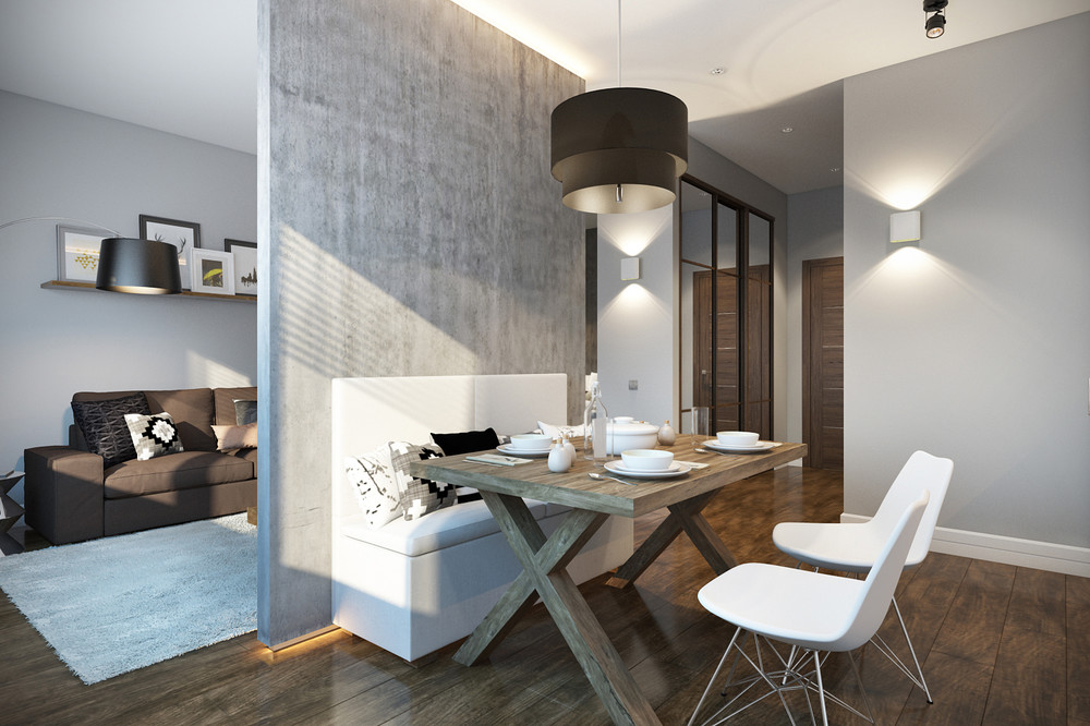 Small dining room design for studio