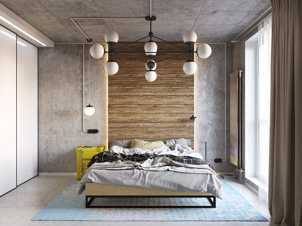Industrial bedroom theme
