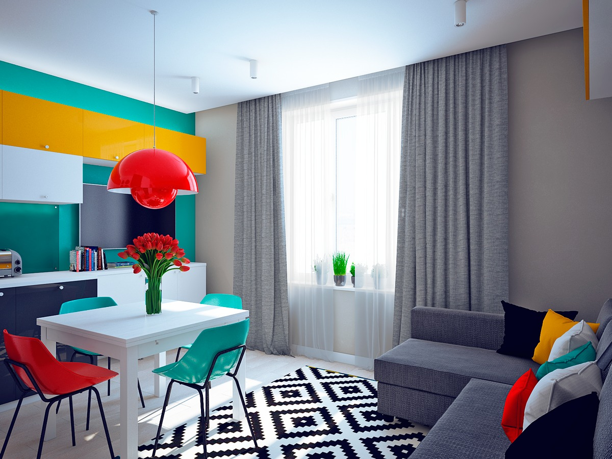 colorful living room design