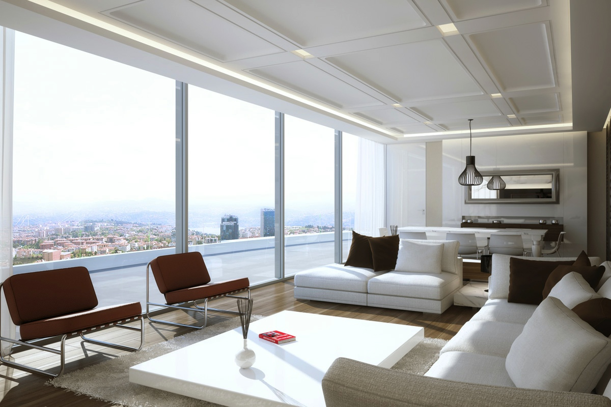 Living room designs with great view and modern decor looks for The family room design studio