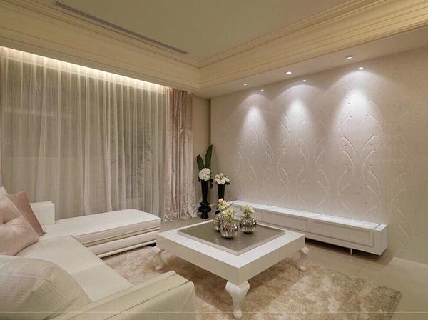 Soft living room design