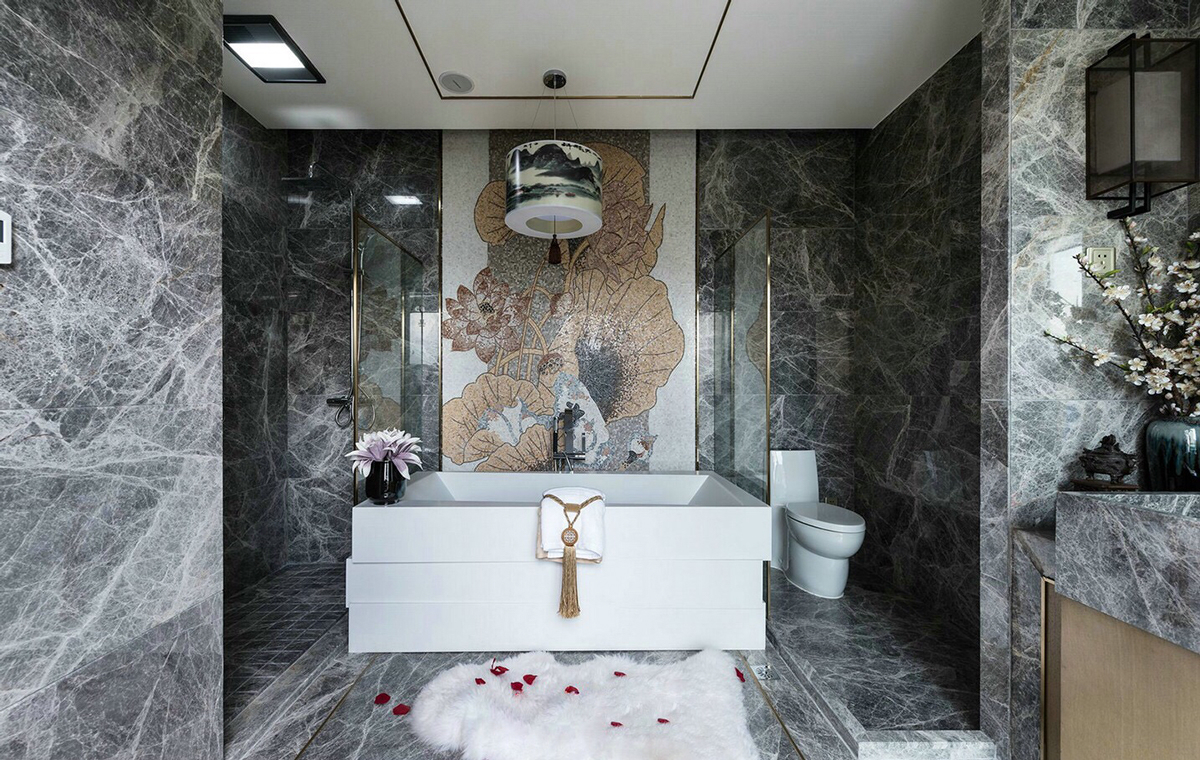 Marble bathroom concept