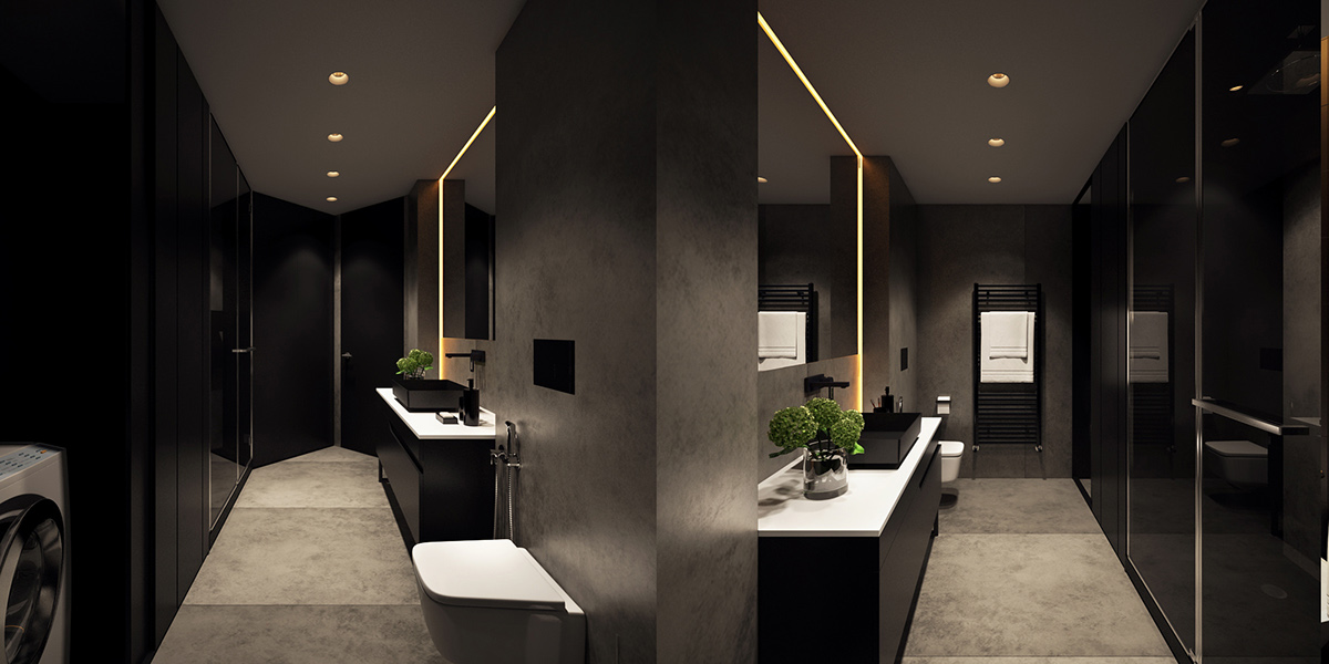 minimalist bathroom apartment design