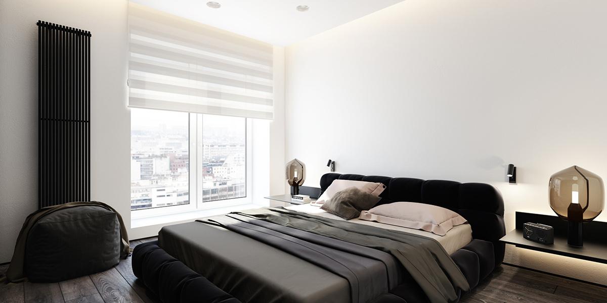 monochrome apartment decorating ideas