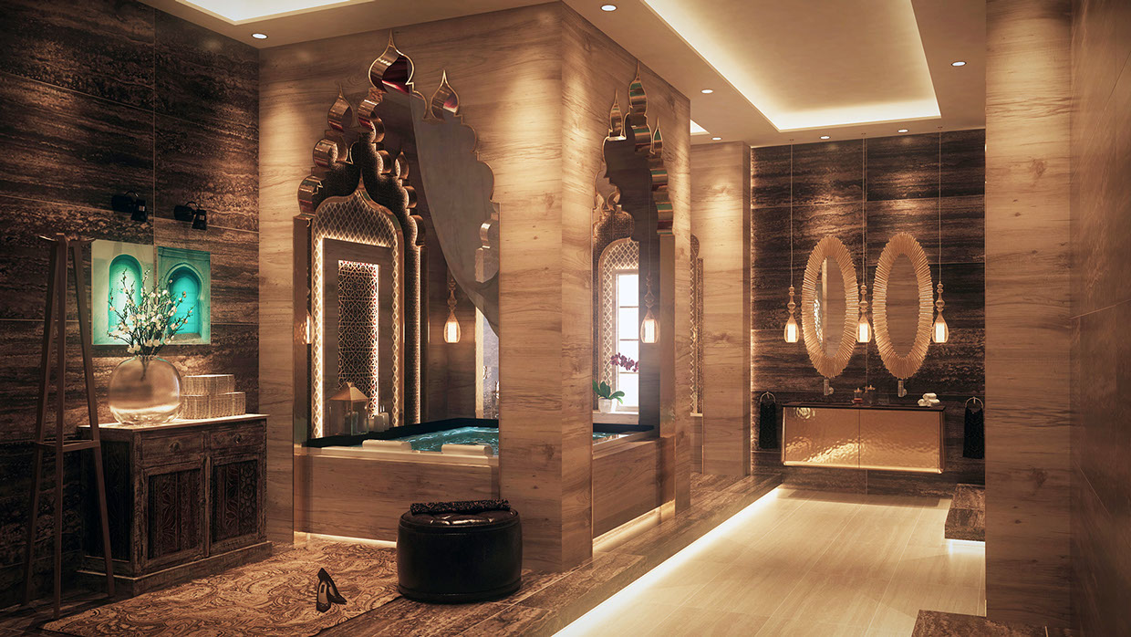 charming spa bathroom accessories | Luxurious Bathroom Designs With Stunning Decor Details ...