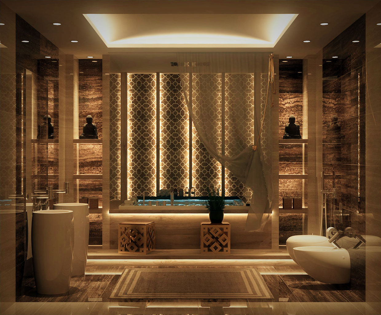 bathroom design with stunning decor